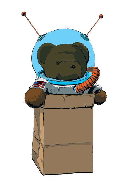 "Bear the Astronot Logo – ""The Grab Bag"""
