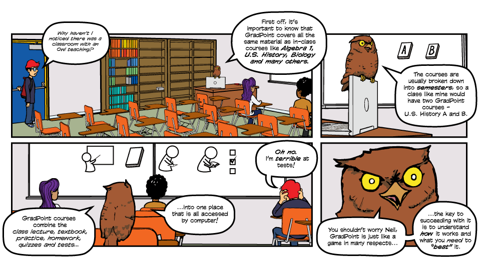 Pearson Gradpoint Instructional Comic 2