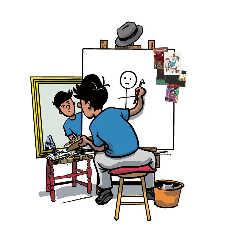 Rockwell Inspired Self Portrait