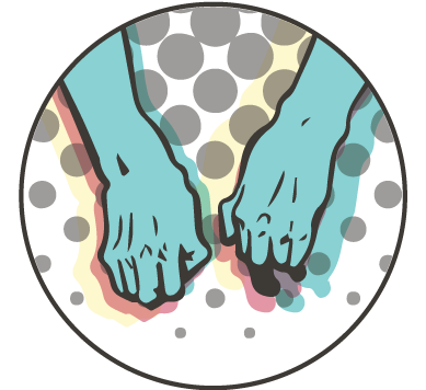 Parkinson Disease - Clinical Webinar Graphic - a pair of hands shaking Copyright © 2019 OnePoint Patient Care