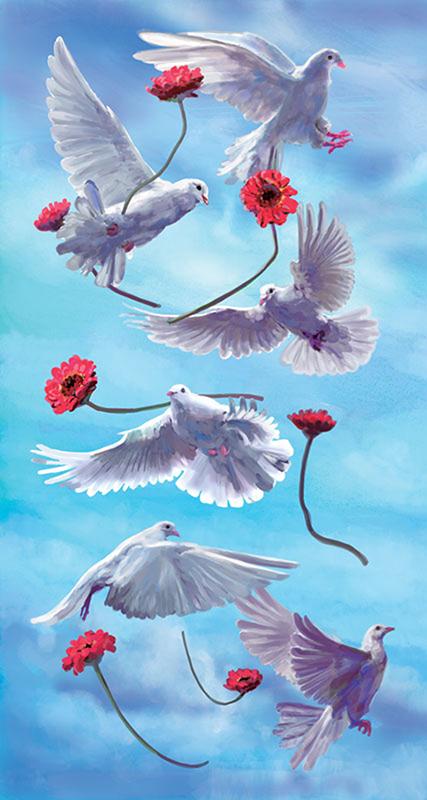 Doves and Gerberas Copyright © 2018 Unfed Artist, LLC