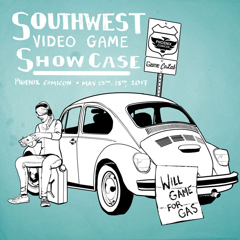 Game CoLab 2017 Southwest Video Game Showcase • Copyright © 2017 Unfed Artist, LLC.; All Rights Reserved.