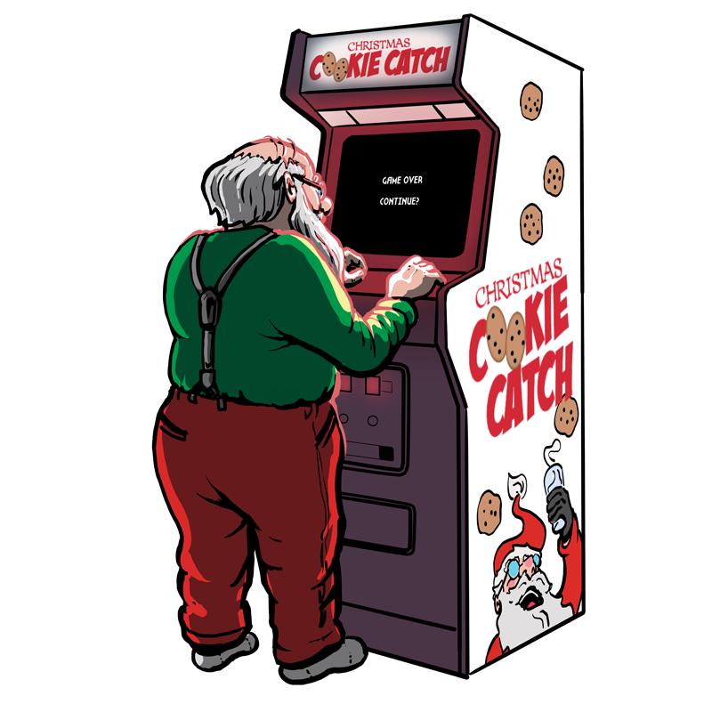 Santa Games • Illustration Copyright © 2018 Ian Castruita